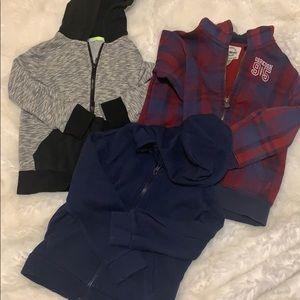 Boys 5t zip up hoodie bundle